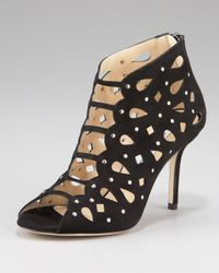 Jimmy Choo - Black Tactic Lace-up Cutout Bootie - Lyst