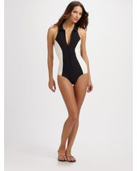 Lisa Marie Fernandez | Black The Daphne Maillot High-neck Swimsuit | Lyst