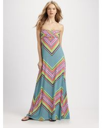 Mara Hoffman | Blue Bandeau Maxi Dress | Lyst