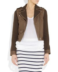Paul & Joe - Brown Bradley Leather and Knitted Cotton Jacket - Lyst