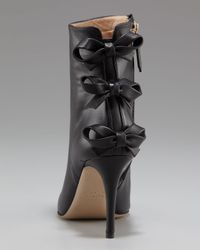 Valentino | Black Bow-back Ankle Boot | Lyst