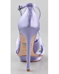 Badgley Mischka - Blue Wallis Platform Sandals - Lyst