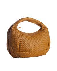Bottega Veneta | Golden Yellow Intrecciato Leather Belly Veneta Hobo | Lyst