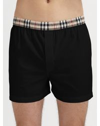 Burberry | Black Check-Waist Boxers for Men | Lyst