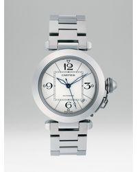 Cartier | Metallic Pasha C De Stainless Steel Watch On Bracelet | Lyst
