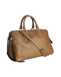 Céline | Brown Cinnamon Lambskin Compartmental Convertible Satchel | Lyst
