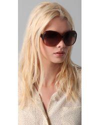 Chloé   Brown Keria Oversized Sunglasses   Lyst