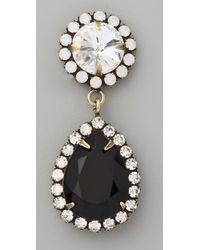 DANNIJO - Black Monaco Earrings - Lyst