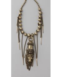 DANNIJO | Metallic Falling Whistles X Brass Fringe Necklace | Lyst
