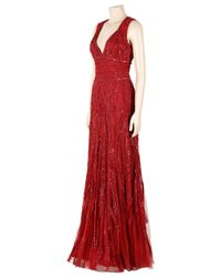 Eastland - Red Sequin Tulle Gown - Lyst