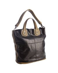 Givenchy - Black and Olive Colorblock Calfskin Nightingale Shoulder Tote - Lyst