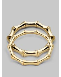 Gucci - Metallic 18k Yellow Gold Large Bamboo Bracelet - Lyst