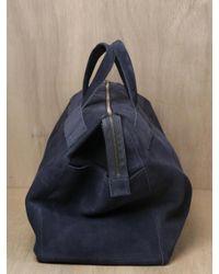 Isaac Reina - Blue Mens Nubuck Calfskin Leather Weekend Bag for Men - Lyst