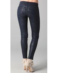 J Brand - Blue Boa Print Coated Skinny Jeans - Lyst
