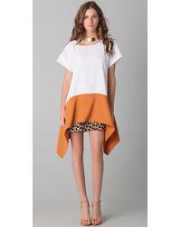 Just Cavalli | Multicolor Leopard Handkerchief Dress | Lyst
