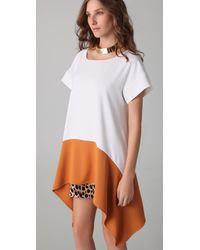 Just Cavalli - Multicolor Leopard Handkerchief Dress - Lyst