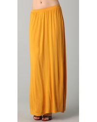 LNA | Yellow Maxi Skirt | Lyst