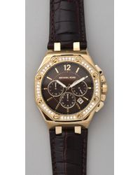 Michael Kors - Metallic Knox Octagonal Chronograph Watch - Lyst