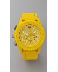 Nixon | Yellow The Rubber 42-20 Chrono Watch | Lyst