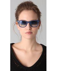Ray-Ban | Blue Wayfarer Sunglasses | Lyst