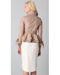RED Valentino | Natural Short Ruffle Jacket | Lyst