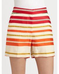 Stella McCartney | Multicolor Cottonsilk Shorts | Lyst