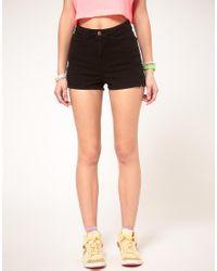 American Apparel - Black Denim Shorts - Lyst