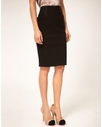ASOS Collection   Black Asos Elastic Insert Pencil Skirt   Lyst