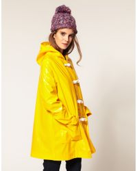 ASOS Collection | Yellow Asos Plastic Rainmac with Rope Tie Detail | Lyst