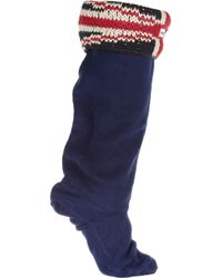 HUNTER | Blue Original Brit Knitted Fleece Socks | Lyst