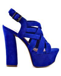 Jessica Simpson | Petra - Blue Iris Suede | Lyst