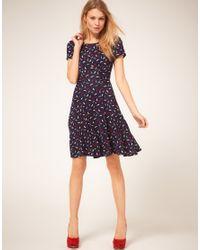 Oasis | Blue Parrot Print Tea Dress | Lyst
