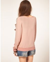 Wildfox | Pink Youve Met Your Match Jumper | Lyst