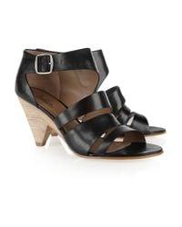 Belle By Sigerson Morrison - Black Multi-strap Leather Sandals - Lyst
