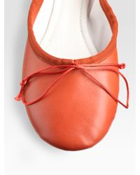 Chloé | Pink Leather Ballet Flats | Lyst