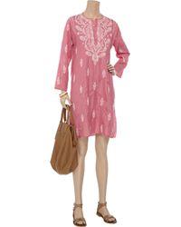 Leaves Of Grass | Pink Jaipur Embroidered Silk Kaftan | Lyst