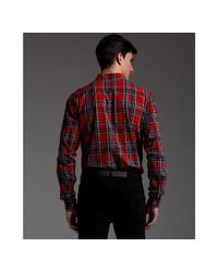 Marc By Marc Jacobs | Ruby Red Tartan Plaid Cotton Charlie Button Down Collar Shirt for Men | Lyst