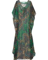 Melissa Odabash - Green Coleen Printed Silk Kaftan - Lyst