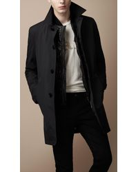 Burberry Brit | Black Diamond Quilted Warmer Raincoat for Men | Lyst