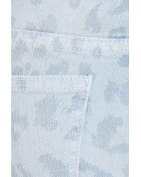 Current/Elliott | Blue The Stiletto Leopard-print Low-rise Skinny Jeans | Lyst