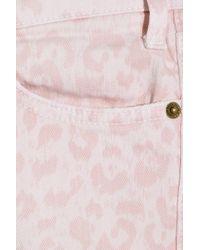Current/Elliott | Pink The Stiletto Leopard-print Low-rise Skinny Jeans | Lyst