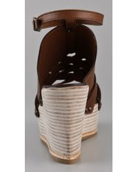 Derek Lam | Brown Martritte Woven Ankle Strap Flatforms | Lyst