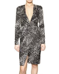 Ferragamo | Black/white Jacquard Dress - Black | Lyst