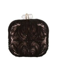 Marchesa | Black Tulle Embroidered Minaudiere | Lyst