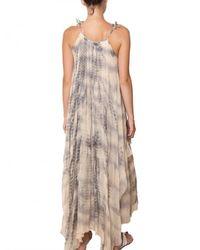 Mes Demoiselles | Gray Layered Batik Georgette Long Dress | Lyst