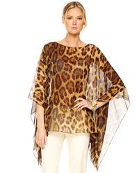 Michael Kors | Multicolor Leopard-print Chiffon Tunic | Lyst