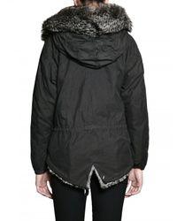 Mr & Mrs Italy | Black Chincilla and Rabbit Fur Mini Parka Jacket | Lyst