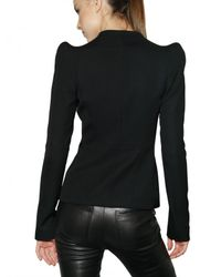 Mugler - Black Fluid Wool Jacket - Lyst