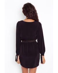 Nasty Gal - Tied Wrap Dress - Black - Lyst