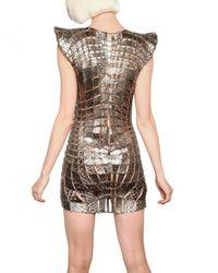 Paco Rabanne | Metallic Metal Chain and Python Insert Dress | Lyst